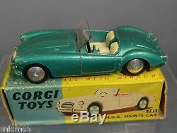 VINTAGE CORGI TOYS MODEL No. 302 MGA SPORTS CAR VN MIB