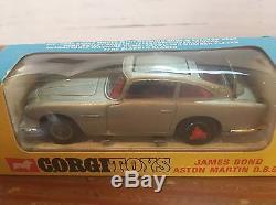 Vintage Corgi Toys Sports Car #270 James Bond 007 Aston Martin Db5 Silver Nib