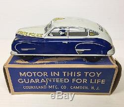 Vintage Courtland State Police Car In Box 7 Car 100% Original Near Mint Marx