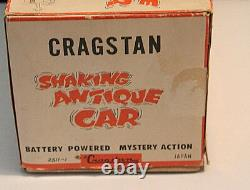 VINTAGE CRAGSTON SHAKING ANTIQUE CAR WithBOX IN WORKING CONDITION, JAPAN