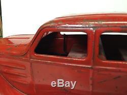 Vintage Kingsbury Original 14 Chrysler Airflow Sedan Car Wind-up Pressed Steel