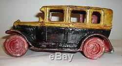 Vintage Large Arcade Cast Iron Packard Sedan Toy Car