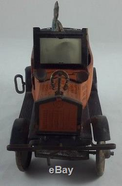 Vintage Marx Amos'n' Andy Fresh Air Taxi Car Tin Litho Wind Up Toy Works