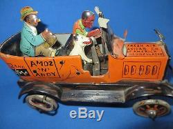 VINTAGE MARX AMOS'N' ANDY FRESH AIR TAXI CAR TIN LITHO WIND UP TOY WORKS comic