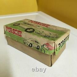VINTAGE MASUDAYA (MODERN TOYS), TIN, PORSCHE 356 COUPE FULLY WORKING WithBOX