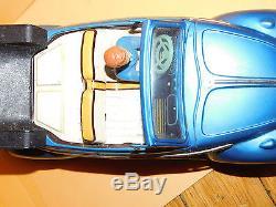 Vintage Rare 1960s Bandai Tin Volkswagen Convertible Friction Car 10
