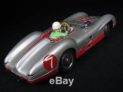 Vintage Tin Lithograph B/o Mercedes Go Stop Benz Racer 7 Car Marusan Japan Boxed