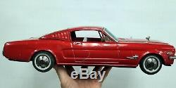VTG Mustang GT Friction Tin Toy Car Made in Japan Normura T. N 16 inches Long
