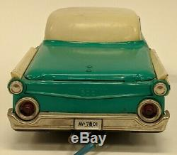 VTG Yonezawa Battery Operated Remote Control Ford Fairlane Convertible Toy Car