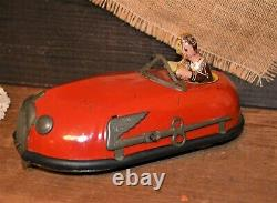 Very Nice Classic 1930's Lindstrom Skeeter Bug Windup Bumper Car withKey Working