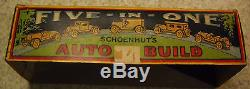 Very Rare 1925 SCHOENHUT's 5 in 1 TOY AUTO BUILD Wooden Car in ORIG BOX Complete