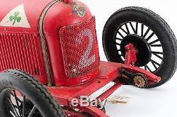 Very Rare! CIJ ALFA ROMEO P2 LARGE TINPLATE RACING CAR C. 1925