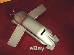 Very Rare US Zone Blomer & Schuler BS 501 Tin Wind-up Aero-Car with Or. Box