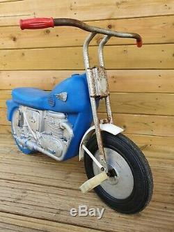Very Rare Vintage Triang Pedal Car Motorcycle Toy Lines Bros