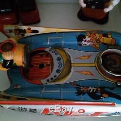Very rare VINTAGE S-17 SPACE SCOUT VARIATION SY YANOMAN TIN Toys CAR Japan