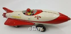 Very rare tin Firebird I concept space car by Alps Japan 1953 GM prototype