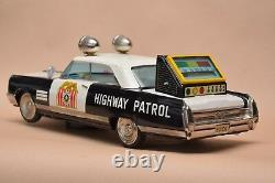 Vintage 15 RARE Tin Toy BUICK Police Car ICHIKO Highway Patrol Battery + Box