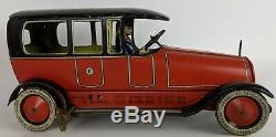 Vintage 1918 LEHMANN Terra EPL 720 Tin Lithographed Clockwork Limousine Toy Car