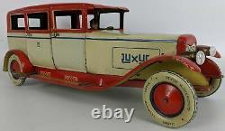 Vintage 1929 LEHMANN'Luxus' EPL 785 Tin Litho Clockwork Limousine Toy Sedan Car