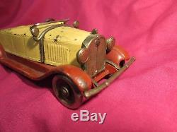Vintage 1930 KILGORE Stutz Bearcat Roadster cast iron toy car convertible