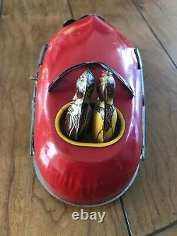 Vintage 1930's Lindstrom Skeeter Bug Tin Wind Up Bumper Car Pre Wwii