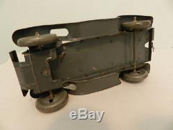 Vintage 1930's Tippco German Staff Car- Tin- Antique Tipp & Co. Toy Car- Ww2