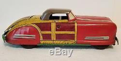 Vintage 1940's Wyandotte Toys Pressed Steel Woody Convertible Car