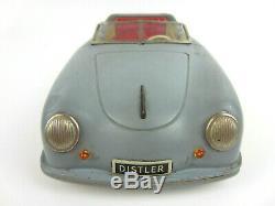 Vintage 1950s Germany DISTLER Porsche 356 ELECTRO MATIC 7500 Tin Toy Battery Car