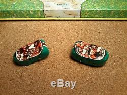 Vintage 1950s J. Chein Roller Coaster Mechanical Tin Windup Toy with 2 Cars