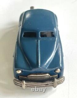 Vintage 1950s Wind-Up TOY CAR Studebaker with BOX Blue SINSEI Occupied Japan
