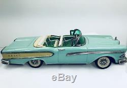 Vintage 1958 Tin Toy Car Ford Edsel Friction Convertible Car Haji Japan Rare 11