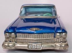 Vintage 1959 Cadillac 4-door Sedan Japanese Tin Friction Toy Car