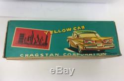Vintage 1960 Tin LithoTaxi CAB Friction Tin Toy Car SSS JAPAN Cragstan