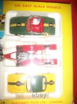 Vintage 1960's NOS Corgi Toys Lotus Racing Team Gift Set in Original Box # 37