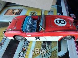 Vintage 1960's Tin Bandai Austin Healey #8 Friction Car, Made in Japan