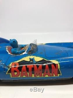 Vintage 1960s ASC batmobile Batman Japan Friction Powered Car 1966