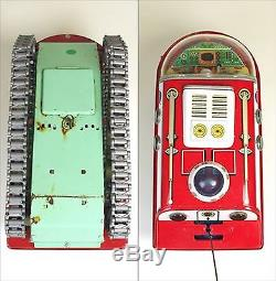 Vintage! 1960s EGE lunar traveling car Tin Toy Made in Spain with outer box