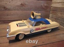 Vintage 1963 Ideal Dick Tracy Copmobile Police Car Parts Or Restoration