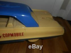 Vintage 1963 Ideal Dick Tracy Copmobile Toy Police Car Battery Op