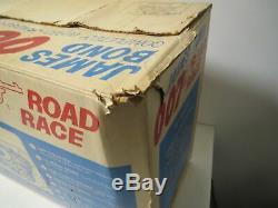 Vintage 1965 AC GILBERT JAMES BOND 007 ROAD RACE SLOT CAR SET Marvin Glass IOB