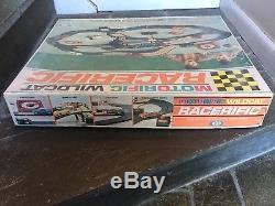 Vintage 1967 Ideal Toys Motorific Champion Racerific Track SLOT CAR Set + CARS