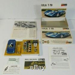 Vintage 1967 Monogram SR3212 Lola T-70 1/32 Scale Model Racing Slot Race Car Kit