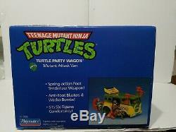Vintage 1989 Teenage Mutant Ninja Turtles Party Wagon Car NEW Sealed RARE TMNT