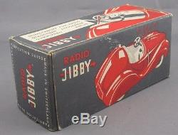 Vintage 40s Jibby Switzerland Radio Car RARE VNMINT AND BOXED Beauty Like Schuco