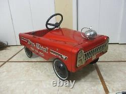 Vintage AMF Fire Chief Pedal Car No. 512 with SHIFTER & Bell- RARE PEDAL CAR 1971