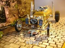Vintage AMT The Munster Drag-u-la 1/32-1/24 slot car offered by MTH