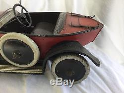 Vintage Andre Citroen Boat Tail Racer Windup Toy Car Made in France NR