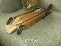 Vintage Antique 1929 Kingsbury Toys The Golden Arrow Speed Record Windup Car Toy