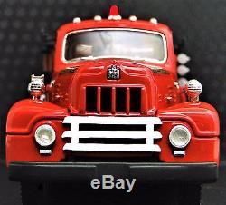 Vintage Antique 1950s Fire Truck A 1 T Metal Model 24 Engine Rare Pickup Car 18