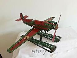 Vintage/Antique Meccano Model Sea Plane Aeroplane 22x15x10 1940/50s org meccano